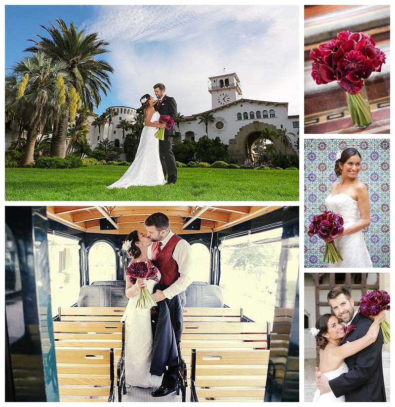 Santa Barbara Weddings Canary Hotel and Santa Barbara Court Hous